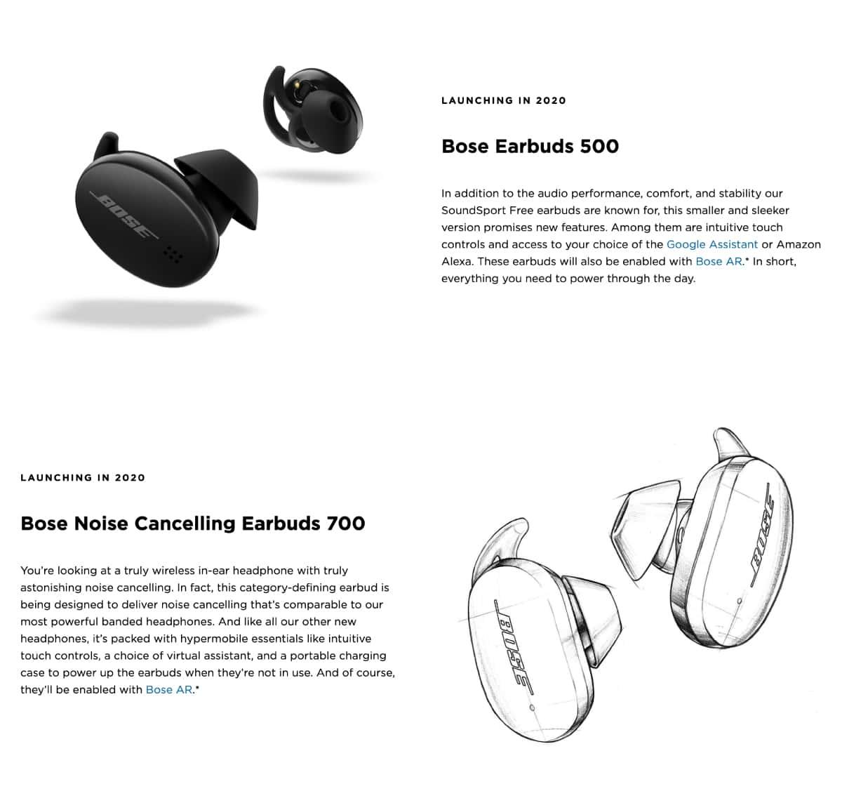 Boseの新型完全ワイヤレスイヤホンが2020年に2機種登場。