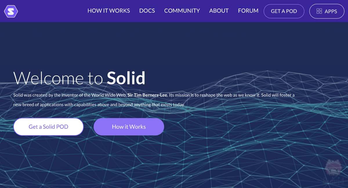 ティム・バーナーズ=リー氏が発表した、『Solid』というオープンソースプラットフォーム。