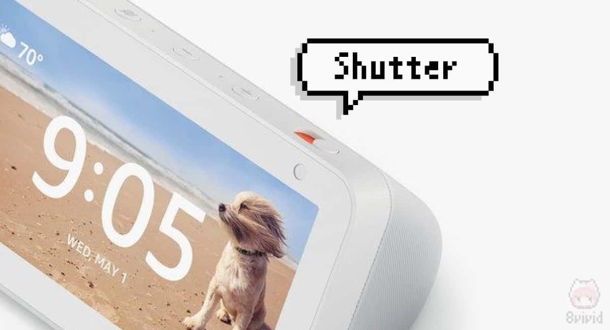 Echo Show 5には、物理的にカメラをオフにするシャッター搭載。