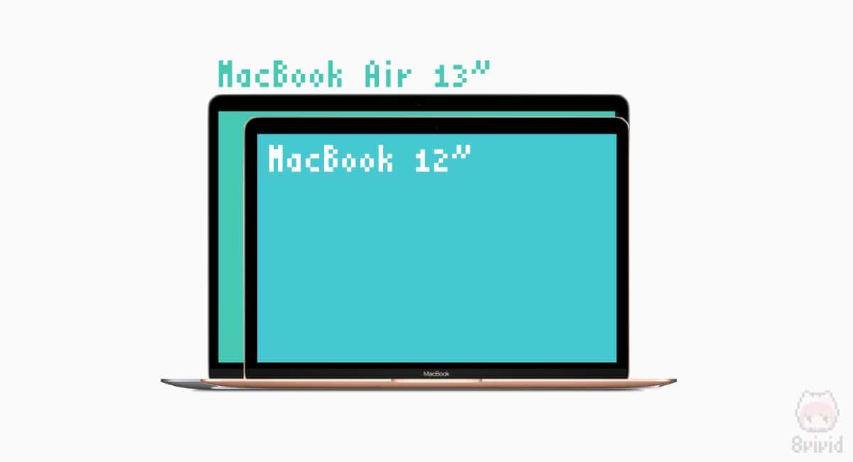 MacBook 12インチはフットプリントが小さい!