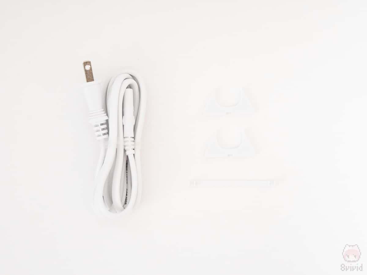 HyperJuice 87W USB-C チャージャーの付属品一覧。