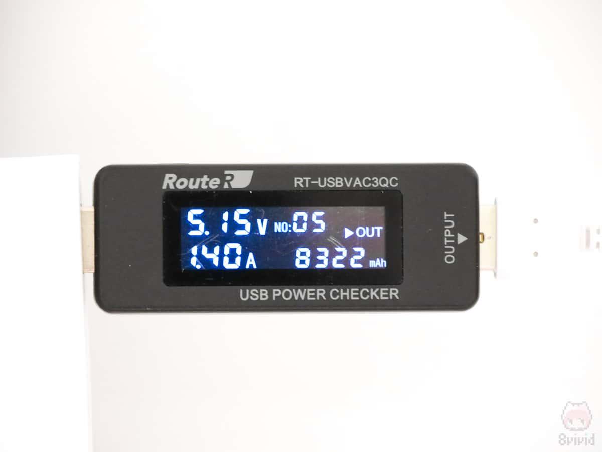 HyperJuice 87W USB-C チャージャーのUSB Type-Aポート。