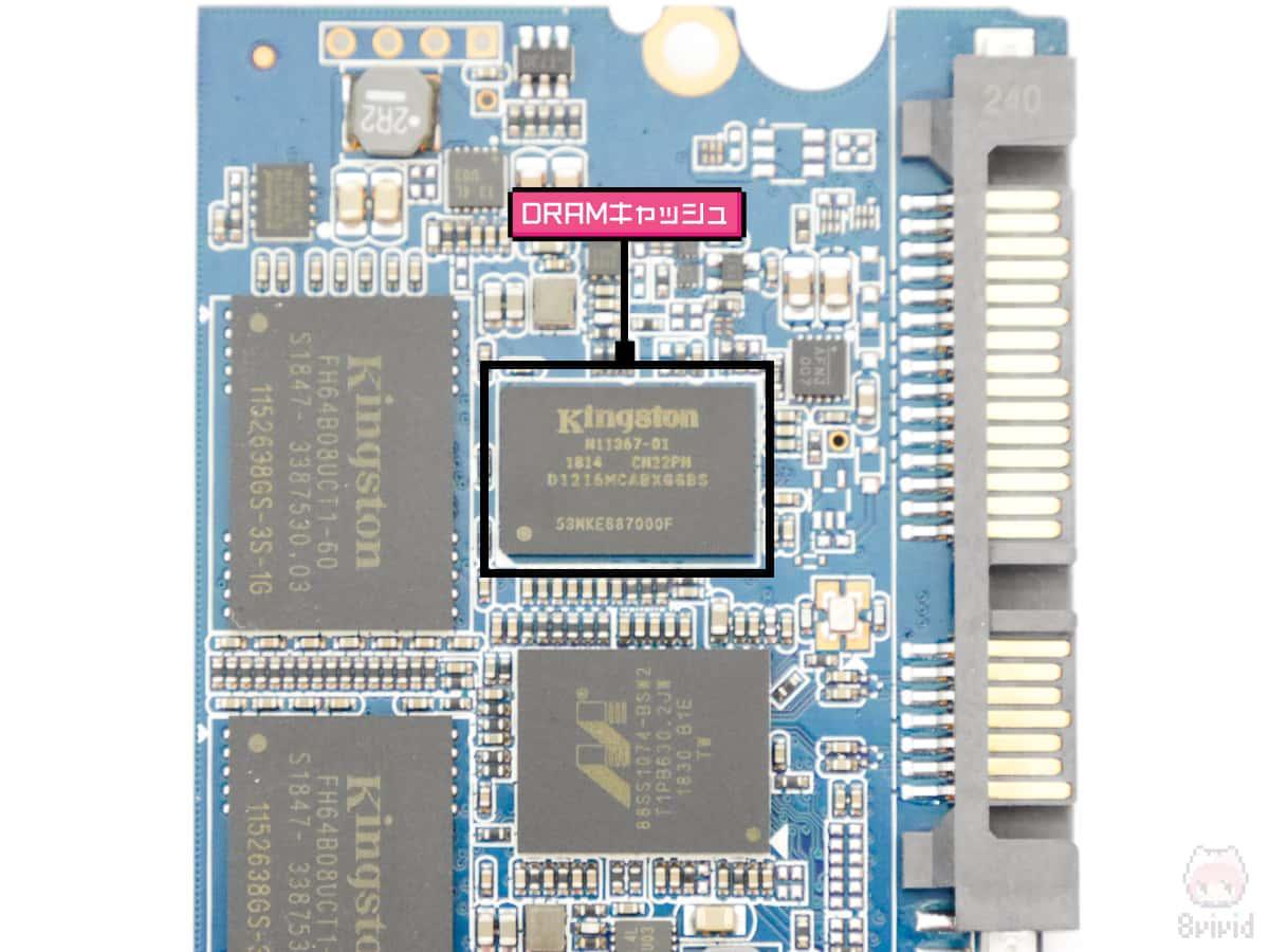 UV500のDRAMキャッシュメモリー。