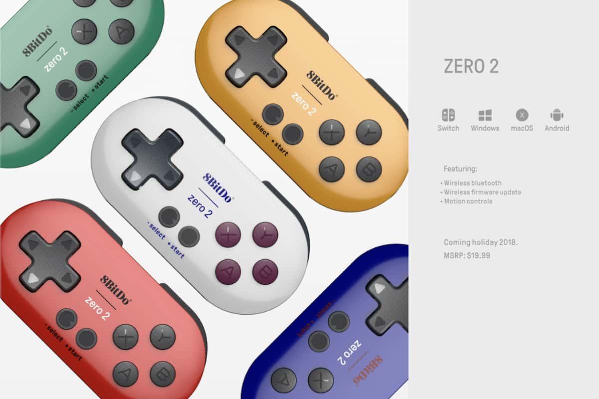 新型『8BitDo ZERO 2』も海外では発売される模様