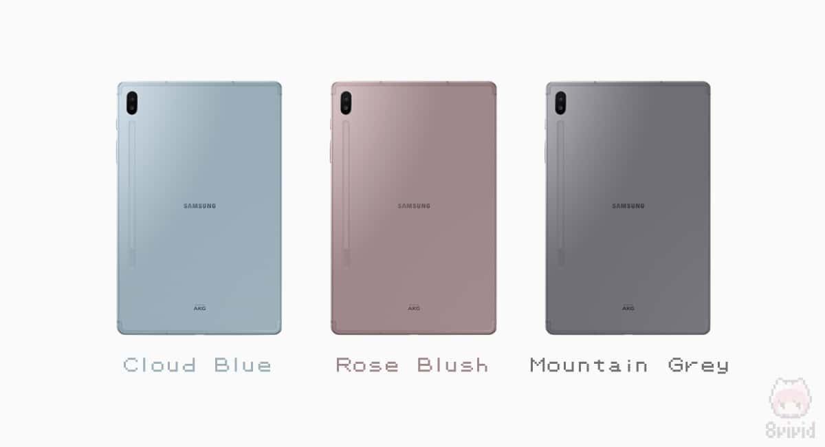 Galaxy Tab S6は3色展開。