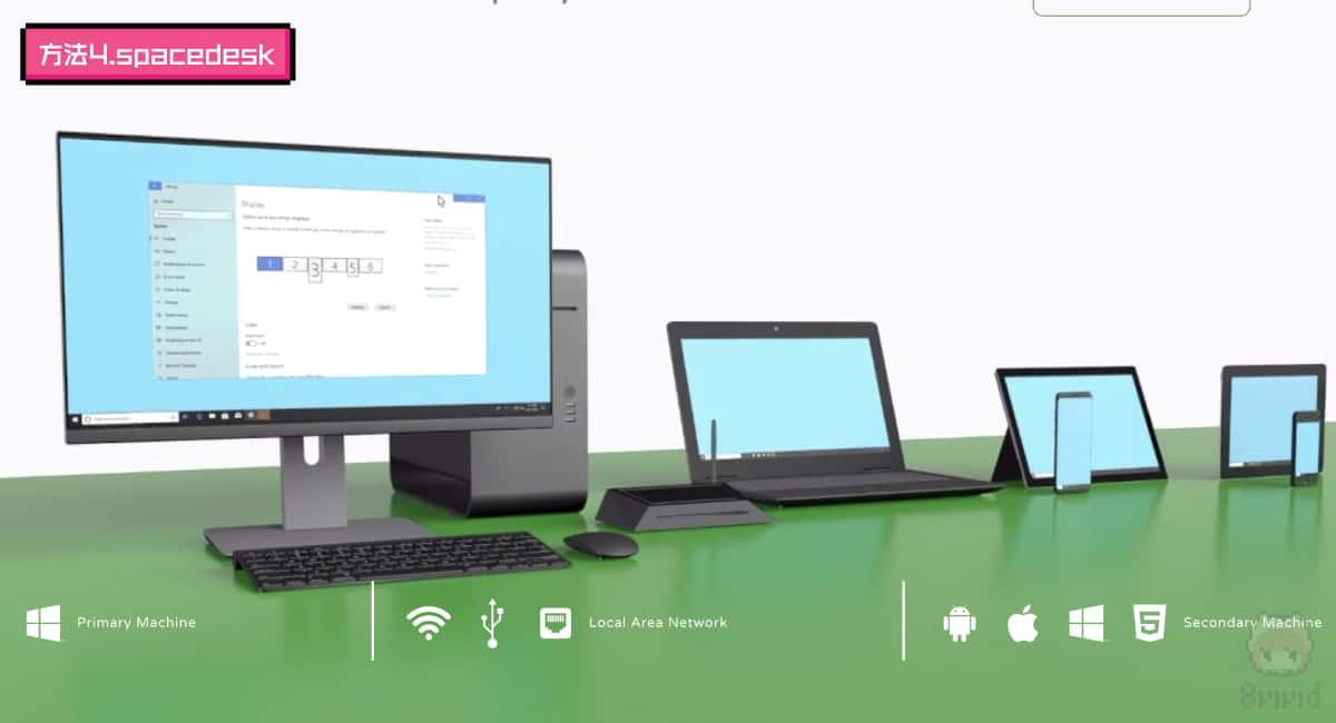 【方法4】フリーソフト『spacedesk』を使う