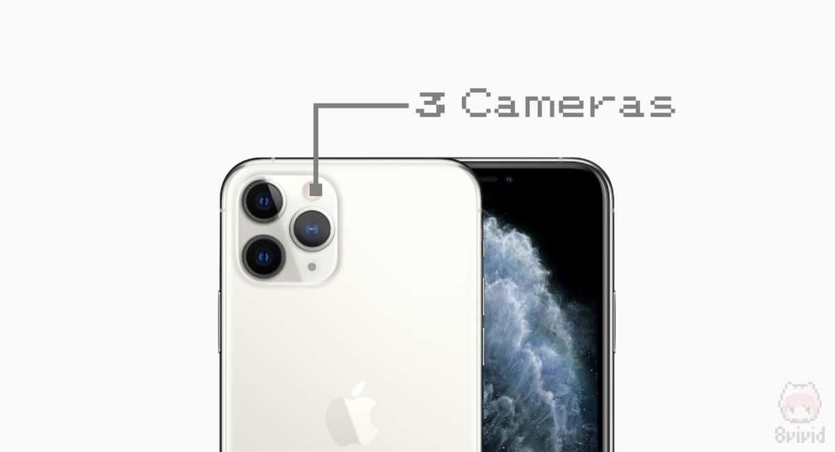 驚異の3眼カメラ。