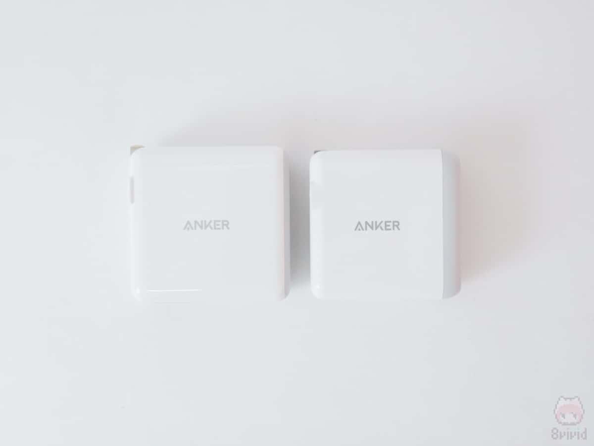 Anker PowerPort 4との比較。