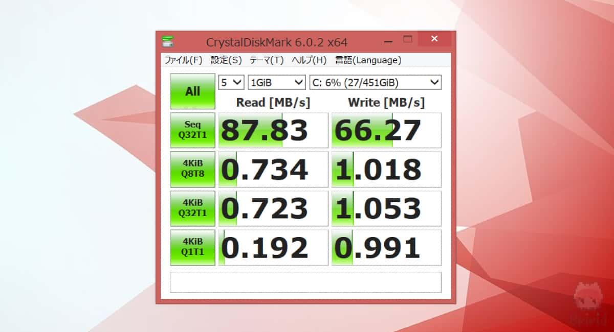 換装前のHDD。