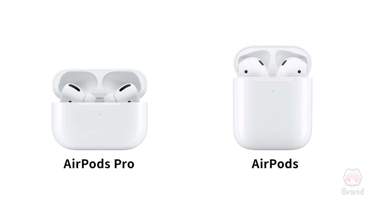 左:AirPods Pro 右:AirPods