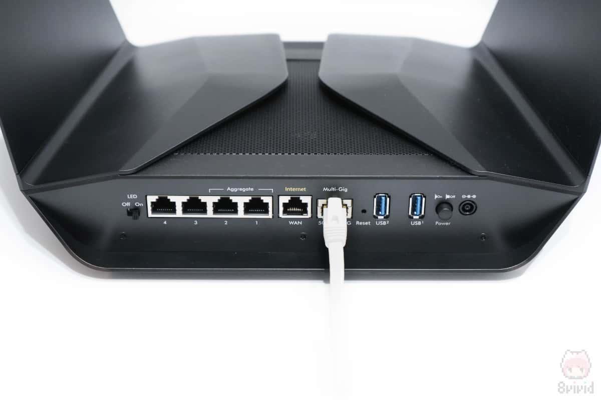 5GbEポートはWAN・LANの両対応。