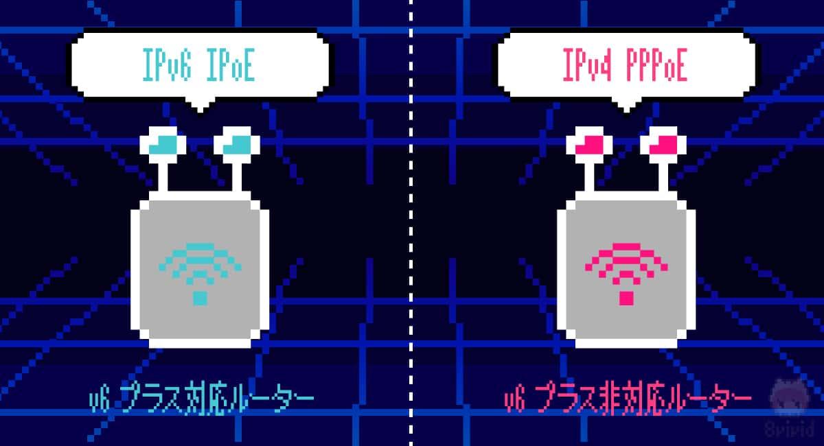 【原因1】無線LANルーターがv6プラス非対応