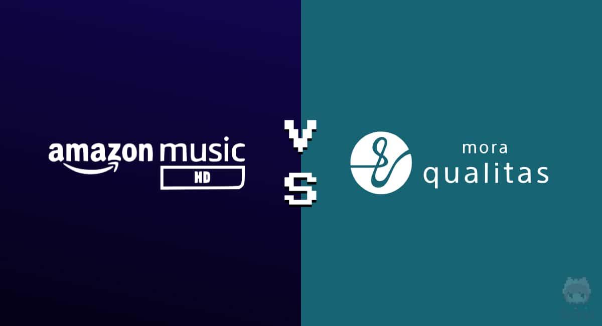 Amazon Music HD vs mora qualitas