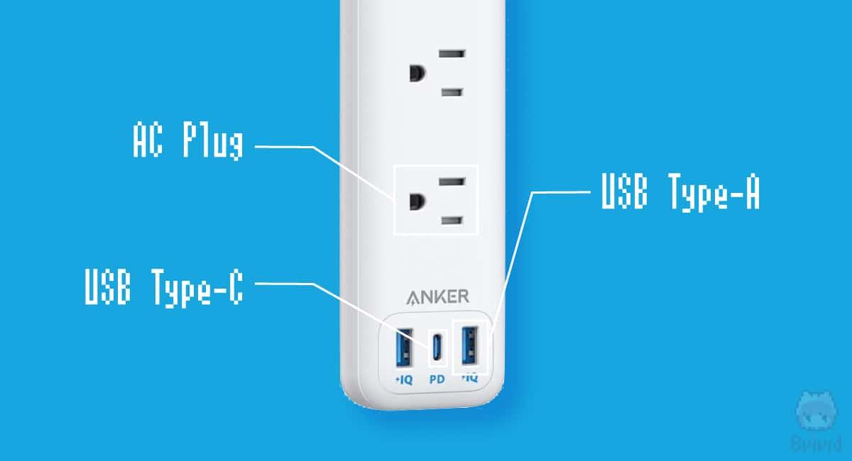 電源プラグとUSB-AとUSB-Cが1つのタップに!