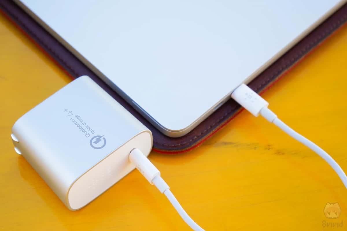 MacBook Pro 13″も充電できた!