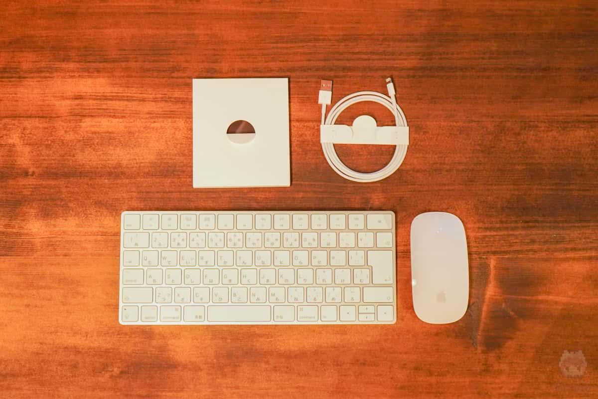 iMac Retina 5K(2019)付属品一覧。