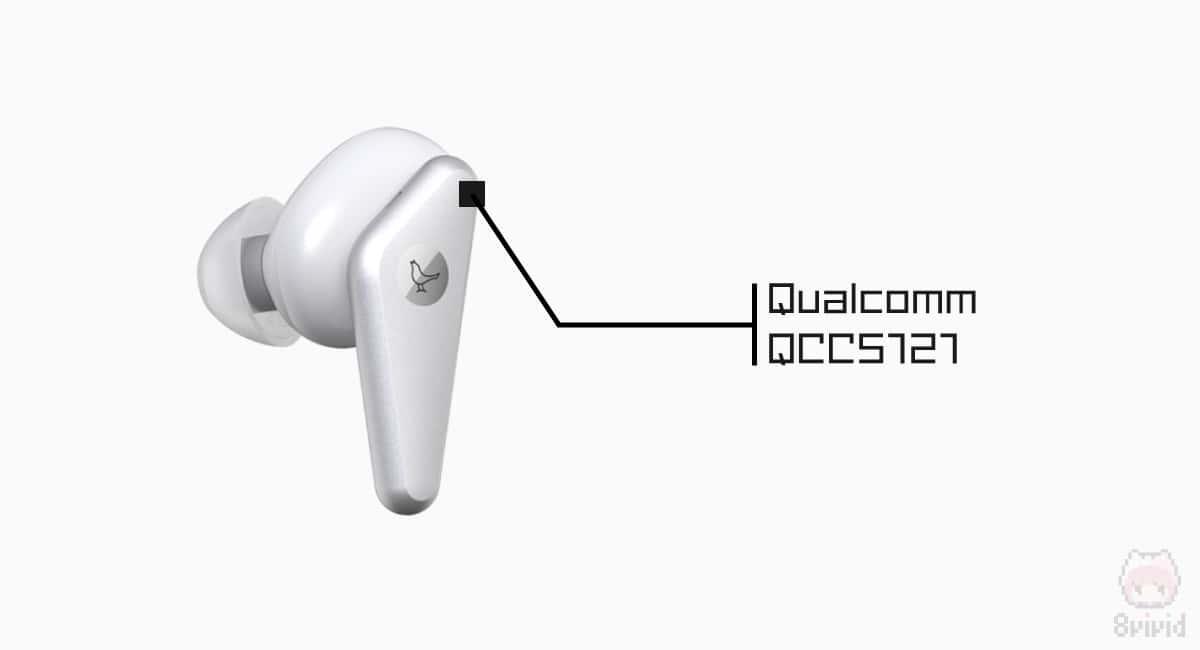 TRACK Air+のSoCはQualcomm『QCC5121』搭載。