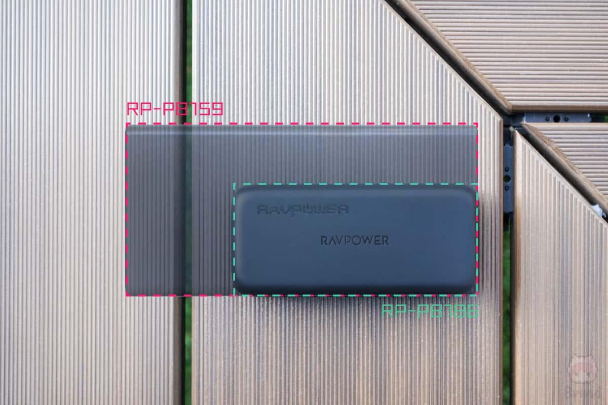 同社の『RP-PB159』と実寸比で合成した結果。