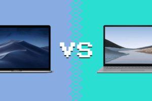 MacBook Pro 15″(2019) vs Surface Laptop 3 15″比較対決。Mは動画にSは写真に向いている!?
