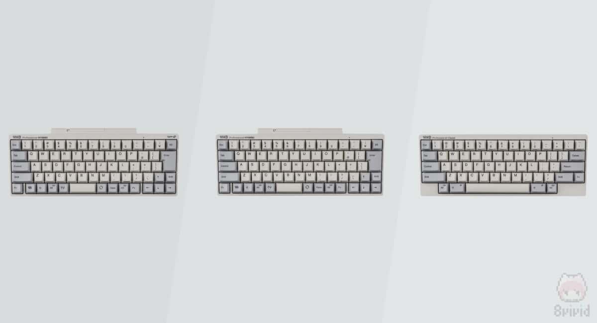 3機種の新型HHKB