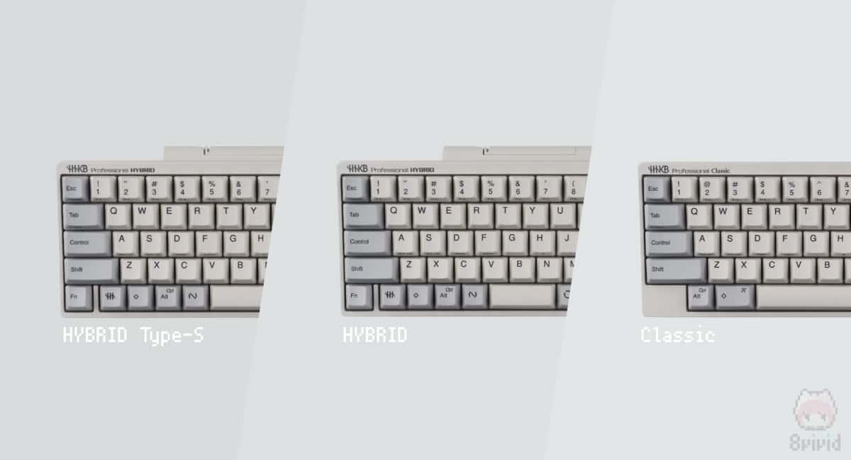 新型HHKBは機能別・タイプ別の3種類
