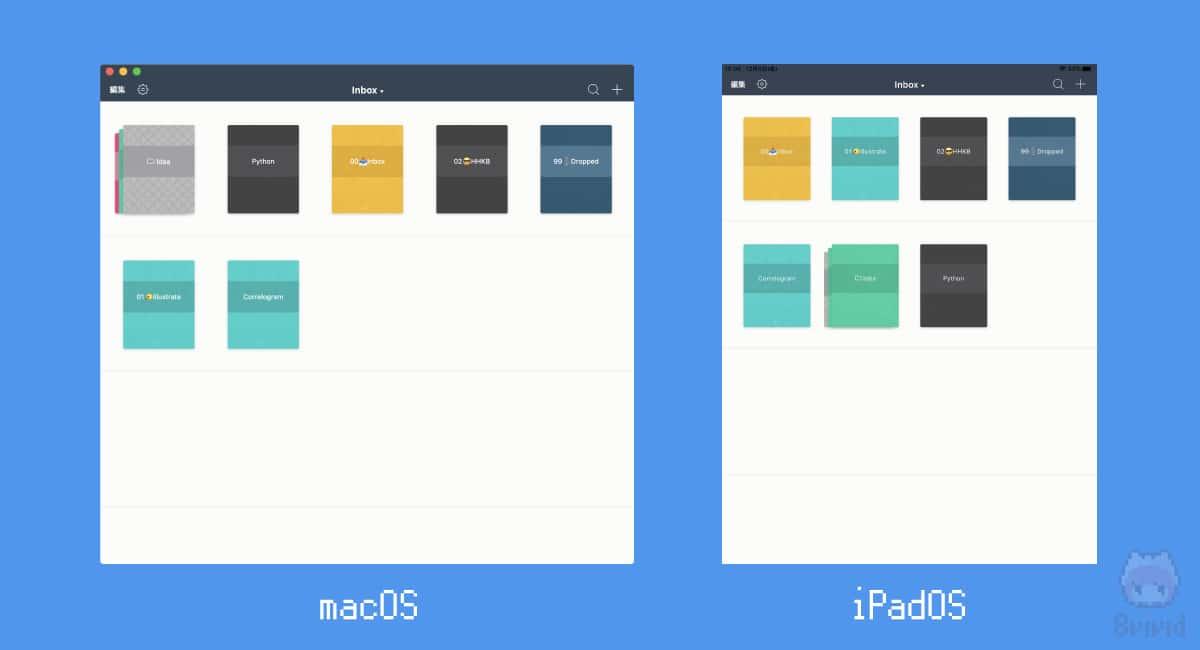 macOS版とiPadOS版は見た目がほぼ一緒。