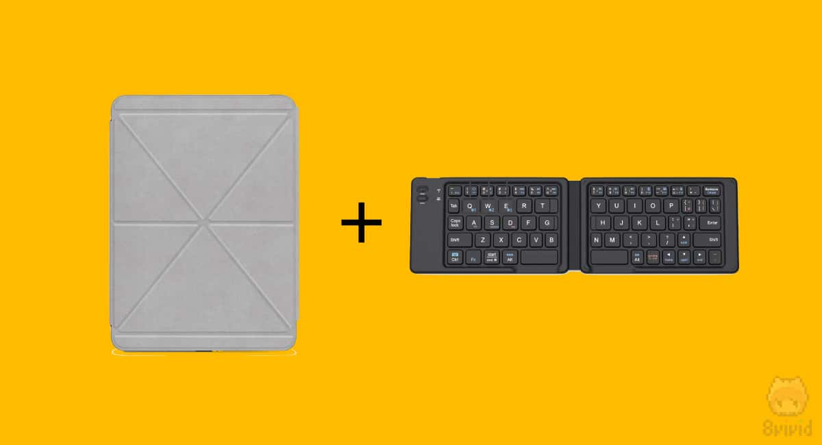 【案2】他社製ハードケース + Bluetoothキーボード