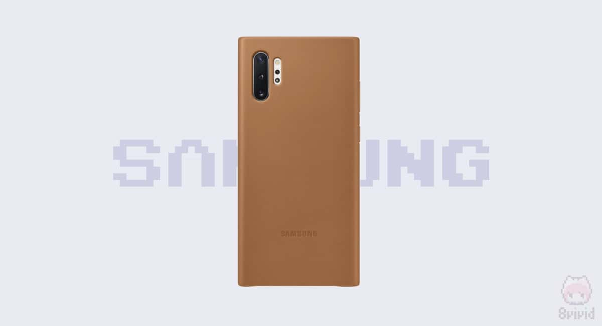 Galaxy Note10+ Leather Back Cover