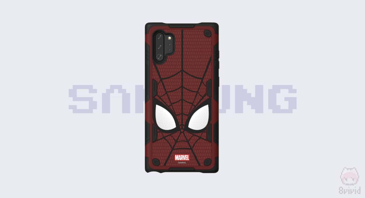 Galaxy Friends Spider-Man Rugged Protective Smart Cover for Note10+