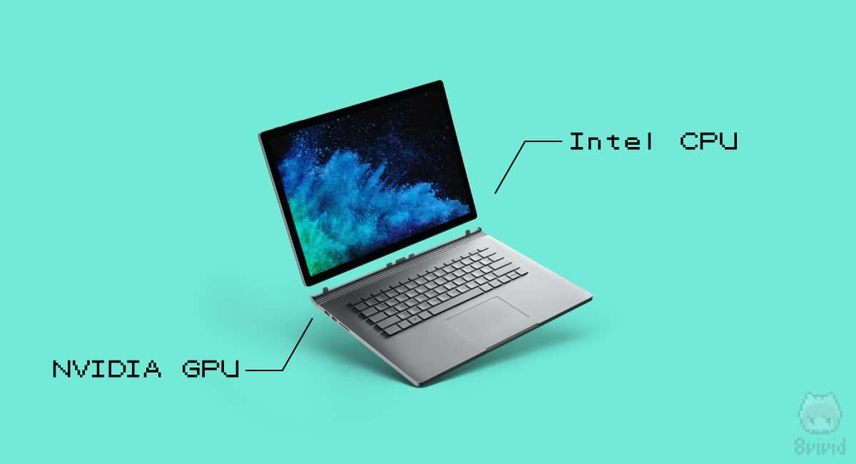 Surface Bookシリーズは、Intel・NVIDIAという組み合わせ。