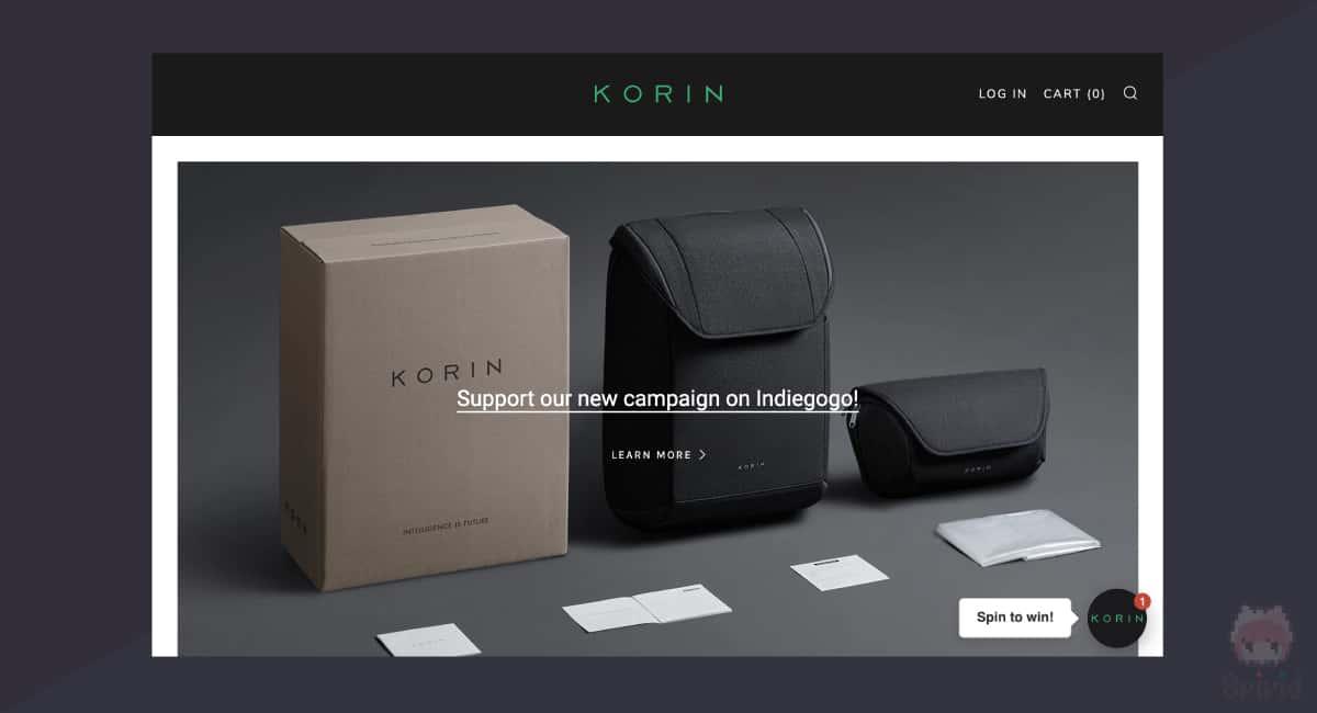 Korin Design公式サイト。