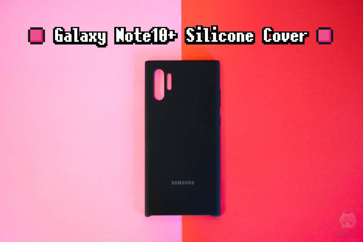 Samsung『Galaxy Note10+ Silicone Cover』全体画像。