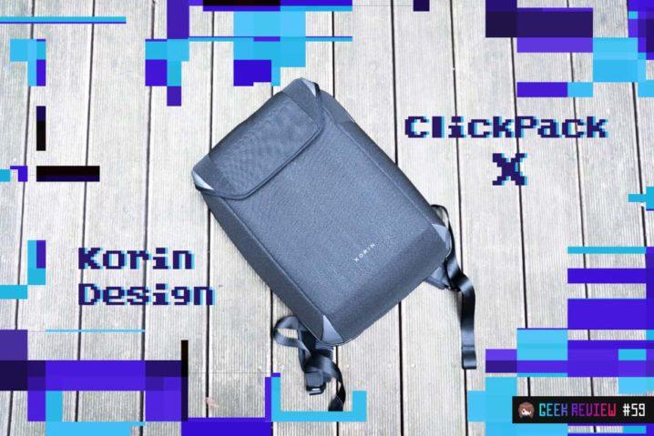 【レビュー】Korin Design『ClickPack X』—ギークな完全無欠の防犯防水バックパック