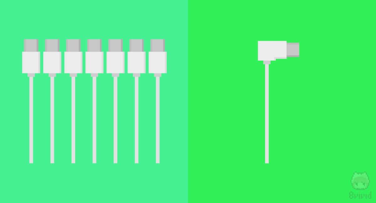 L字USB-Cケーブルは希少製品だった。
