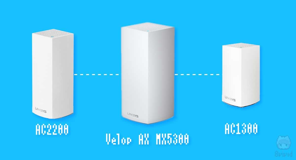 『Intelligent Mesh』テクノロジーで、既存のVelop(AC1300・AC2200)に追加して、メッシュネットワークを構築可能。