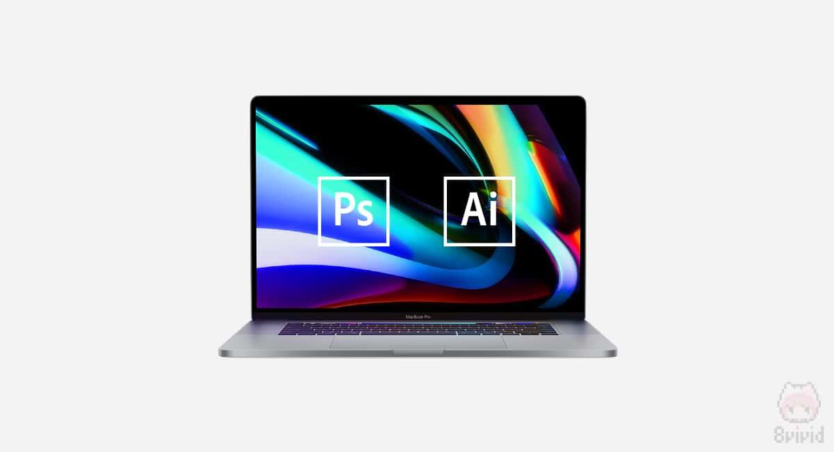 普段はMacでIllustratorやPhotoshopを利用。