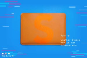 【レビュー】Apple『16インチMacBook Pro用レザースリーブ』—神々しき純正の本革ケース