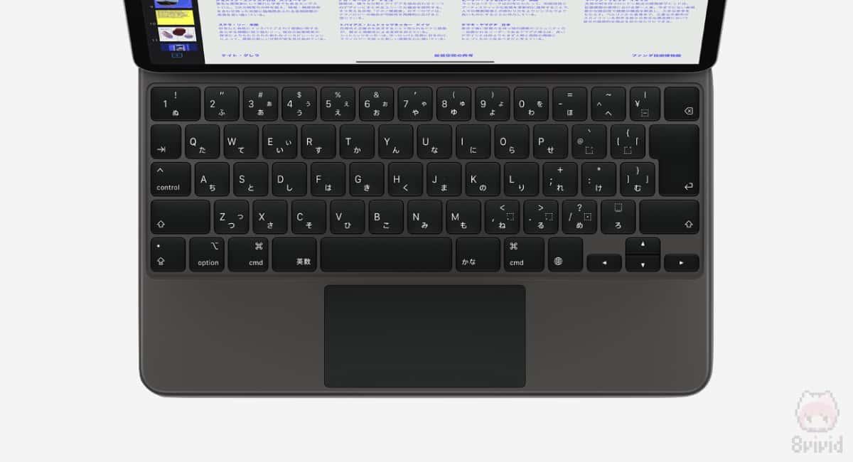MacBook Proと同様のシザー構造キーボード&トラックパッド。