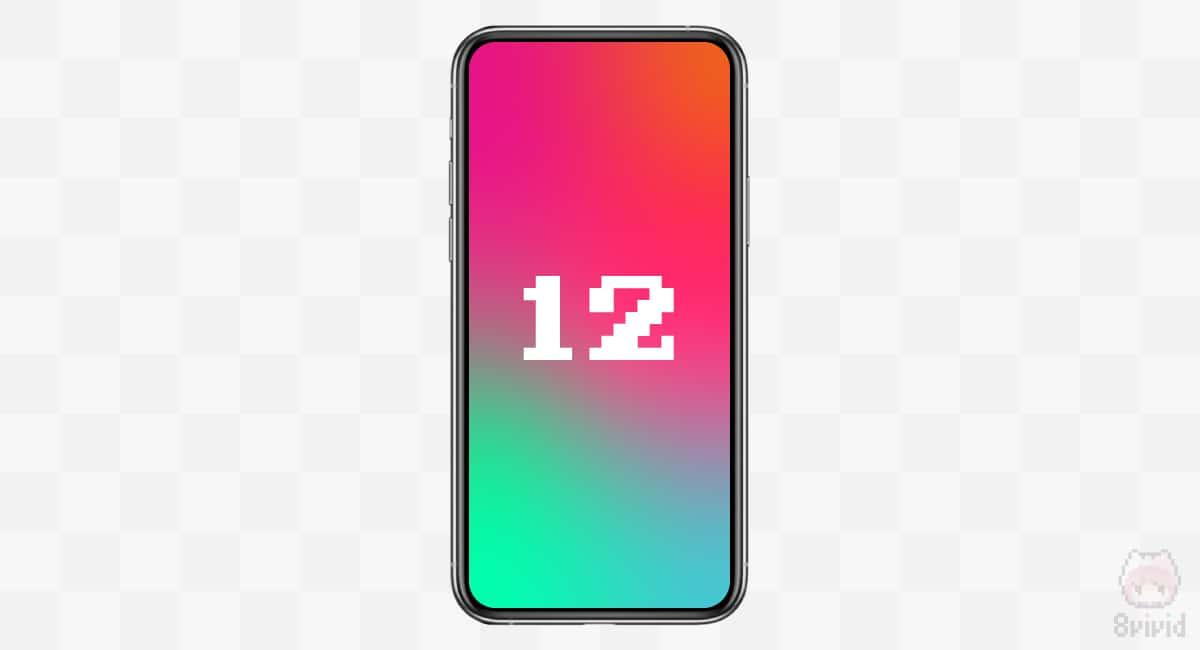 勝手に作ったiPhone 12のイメージ画像。