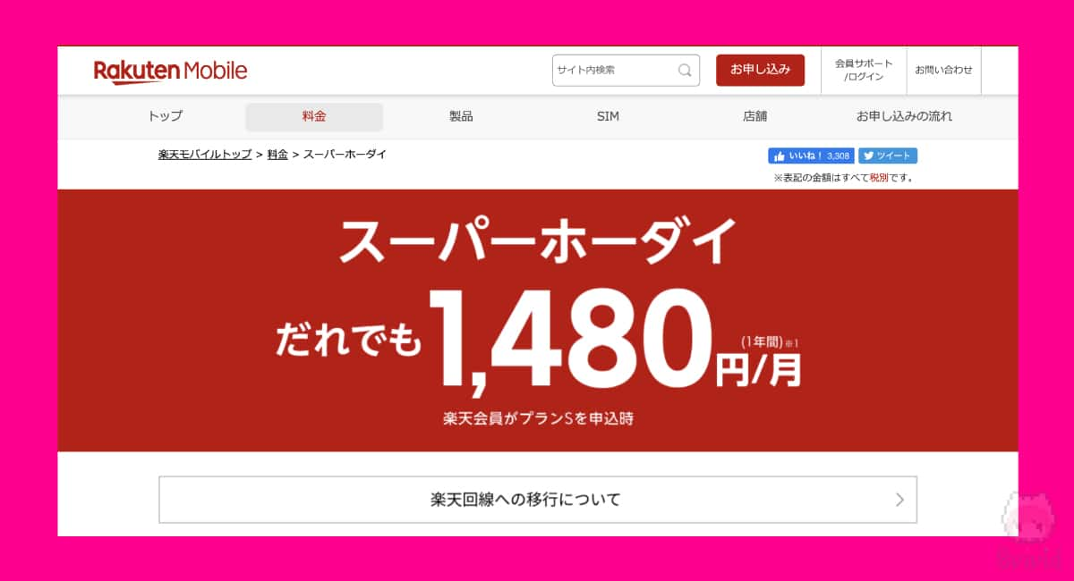 楽天モバイル(MVNO・ドコモ/au回線)