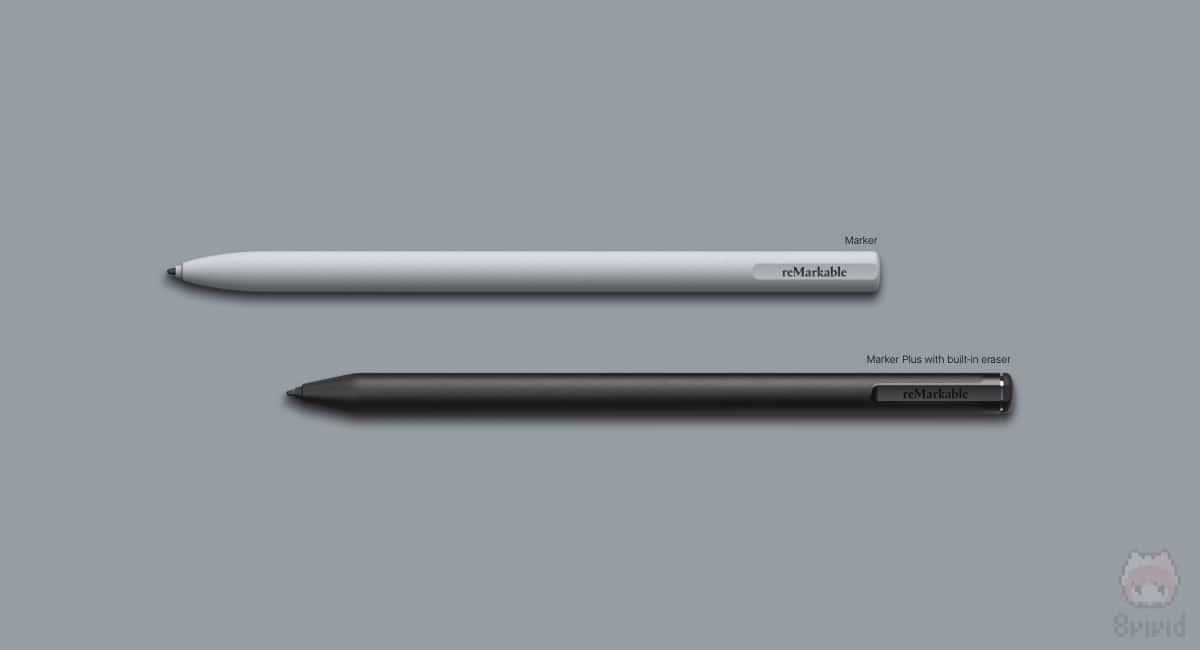 MarkerとMarker Plus with built-in eraser。