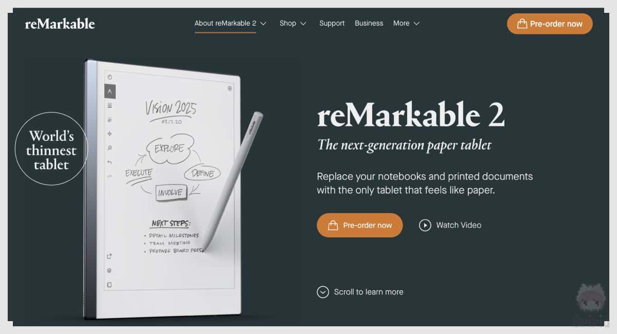 reMarkable公式サイトでプレオーダーしてみる。