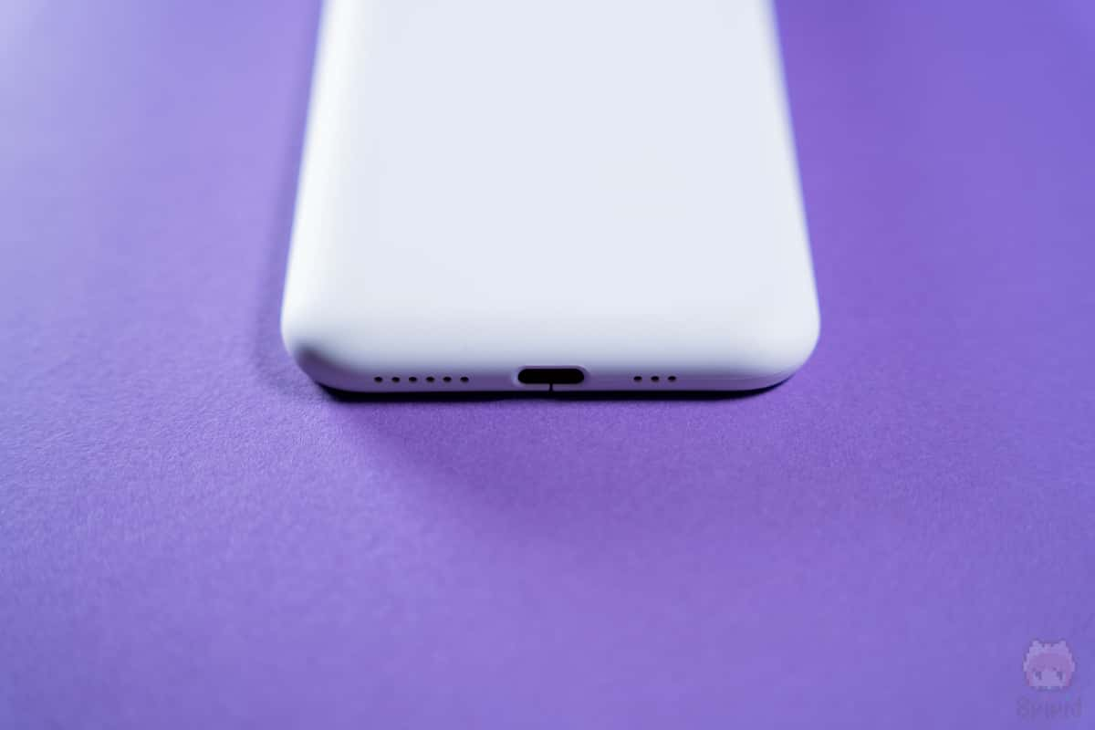 MYNUS iPhone 11 Pro CASE下側面。