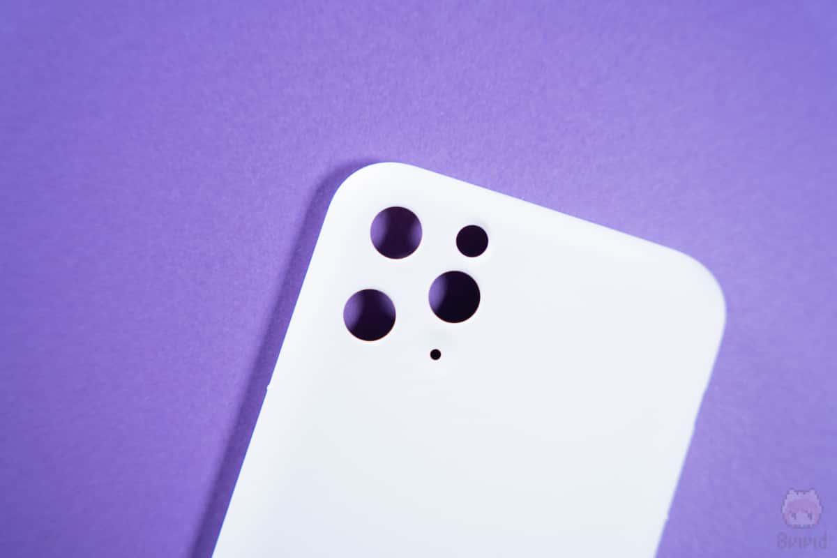 MYNUS iPhone 11 Pro CASEカメラ部分。