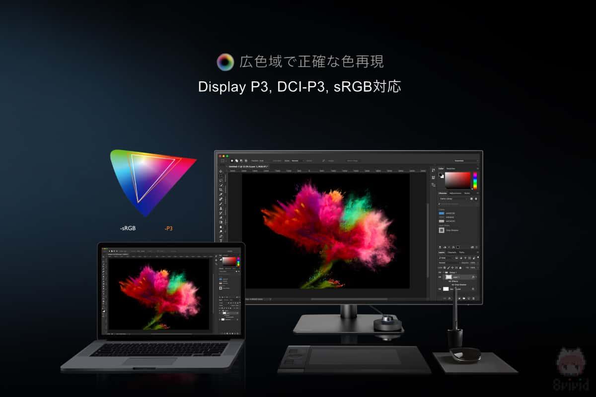 デザイナー的にはDisplay P3カバー率95%は嬉しい。