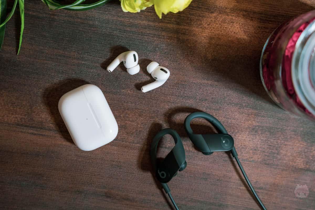 Apple W1・Apple H1搭載のイヤホンなら音楽シェア可能。