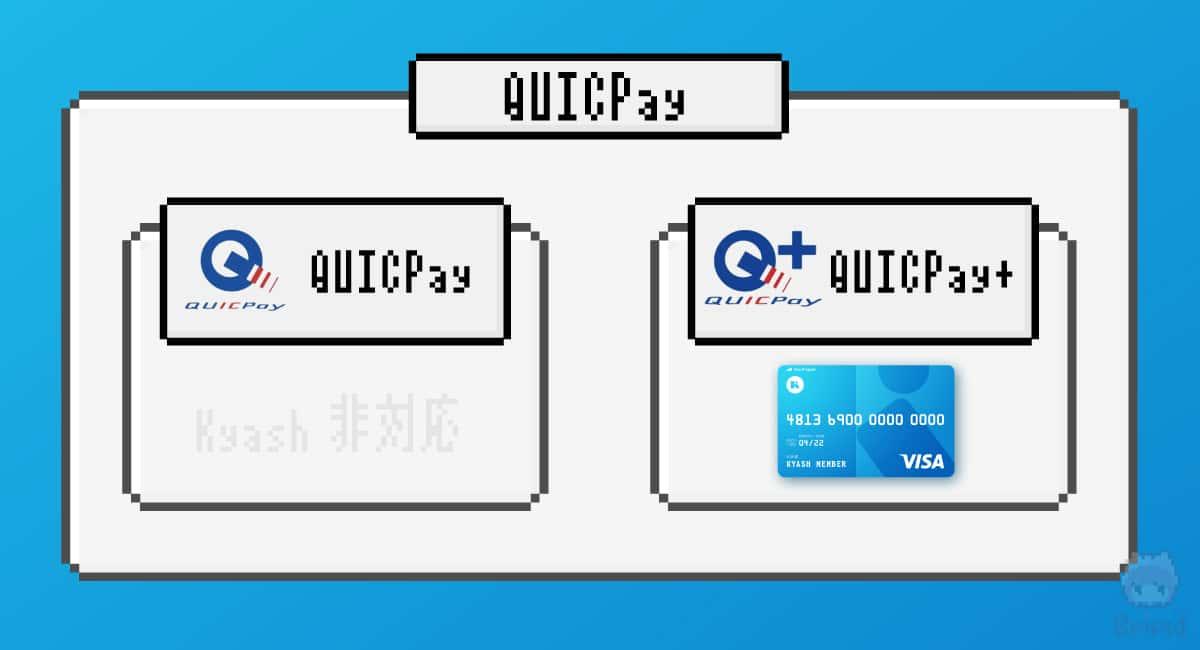 KyashのQUICPayは『QUICPay+』。