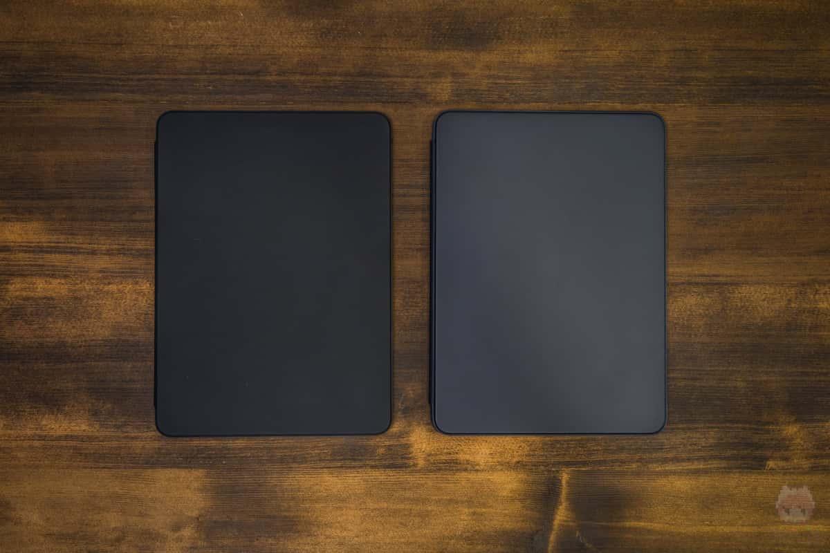 左:新型Smart Keyboard Folio 右:旧型Smart Keyboard Folio