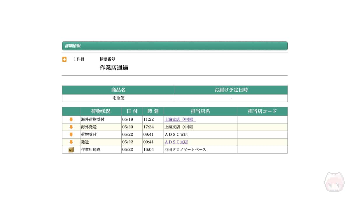 海外発送のApple製品は、このADSC支店経由で届けられる。