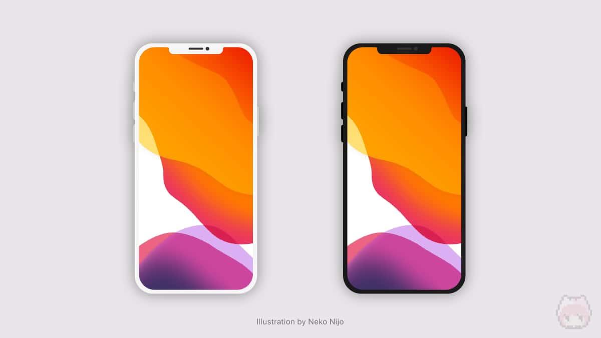 iPhone 12 Miniのベゼルデザイン。